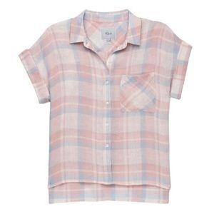 Rails Whitney Loose Tunic Top Blouse Short Sleeve